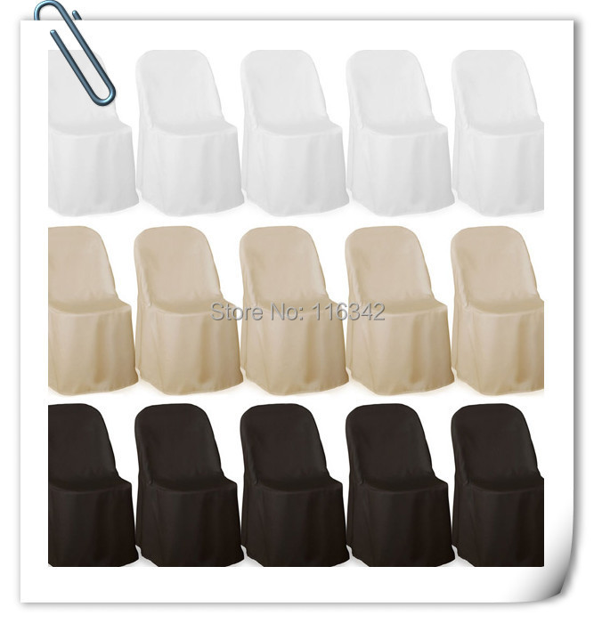 2015 Hot sale with best quality !!! 50pcs Polyester Folding Chair Cover For Wedding Party Event Decorations Free Shipping(China (Mainland))