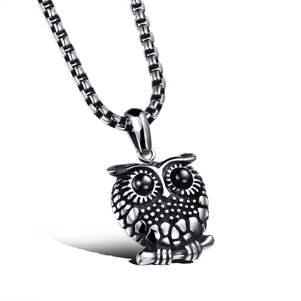 2016 New Famous Brand Jewelry Vintage Owl Pendant Necklace For Men And Woman Fashion Stainless Steel Necklace GX1043(China (Mainland))