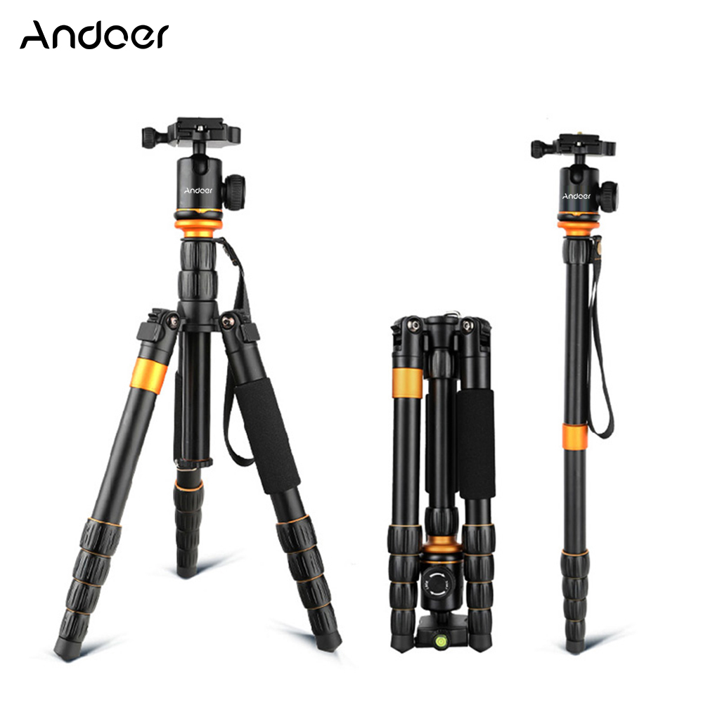 Andoer QZ-278 Aluminum alloy Foldable Camera Tripod Monopod With Ball Head for Canon Nikon Sony Panasonic Camera Camcorder Video(China (Mainland))
