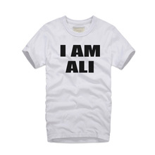 Buy 2017 New Style MUHAMMAD ALI Men T-shirts Funny Slim Fit Man TShirt Cotton O-neck Mens t shirt homme I AM ALI printed Tops Tees for $13.78 in AliExpress store