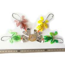 Buy 4 pic 6g LINGYUE brand cute frog fishing lure set soft fishing bait toad lure Frog spinner lure Lifelike Plastic Fishing Bait 50 for $4.13 in AliExpress store