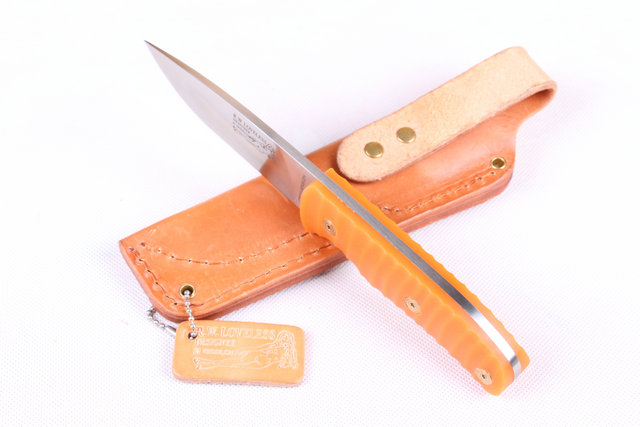 2015 Small Straight Knife Leather sheath 440C Steel Blade Camping knife Tactical Knife Fix Blade Knives