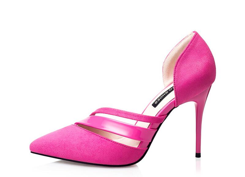 New Release 2016 European style fashion womens stiletto heels, women sexy nightclub pointed hollow OL suede sandals women shoes<br><br>Aliexpress