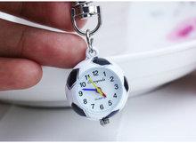 New Fashion Cute Football basketball golf ball Shaped Small Quartz Pocket Watch Analog Pendant keychain Mens Womens Gifts(China (Mainland))