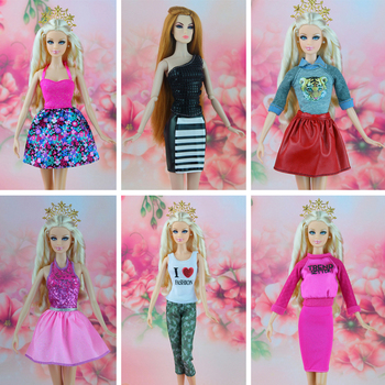 16 Pcs / lot  New Fashion Dress Orignal Casual Clothes for Barbie FR Doll  good kid toy Free shipping