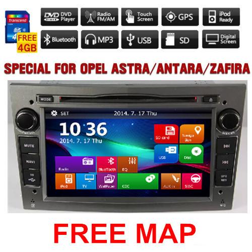 2 Din Car DVD For Opel Astra Vectra Corsa Meriva Zafira with GPS Navi Bluetooth Radio USB SD Canbus Map gift(China (Mainland))