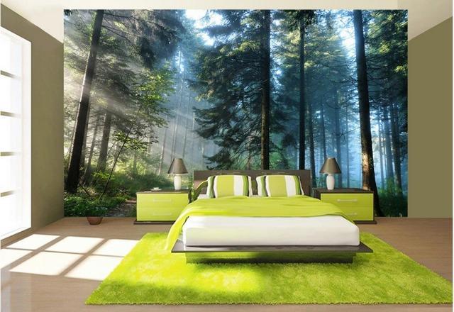 Buy 3d room wallpaper landscape green for 3d wallpaper for living room modern india