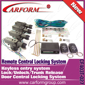 Remote central door locking system 2 Master Flip key Remote control trunk open Keyless entry system Window closer Free shipping