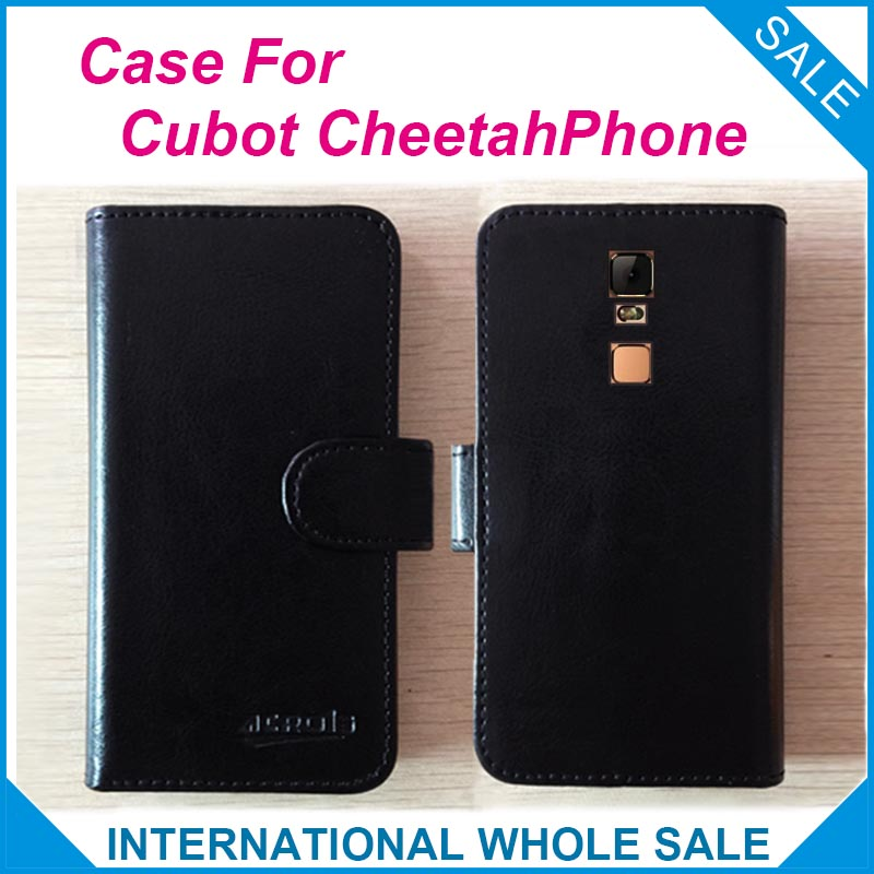 Hot!! 2016 Cubot CheetahPhone Case, 6 Colors High Quality Leather Exclusive Case For Cubot CheetahPhone Cover Phone Bag tracking