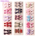 10pcs lot Girls Hair Accessories Lovely Hair Clips Lace Bowknot Plaid Floral Hairpins Barrettes Gifts For