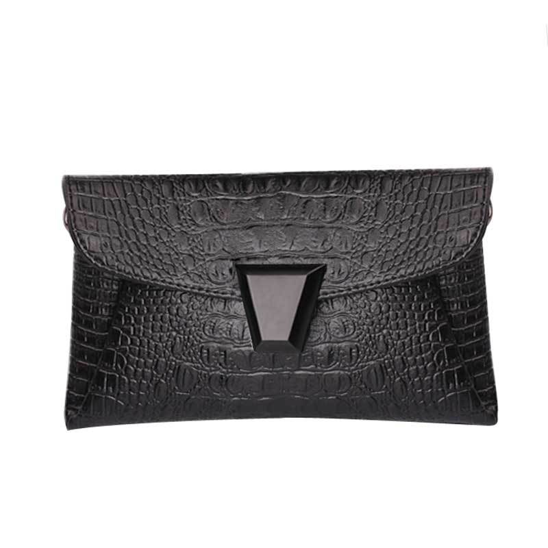 Women Bag Desigual Spain 2015 New Fashion Crocodile Shoulder Bags Silver Envelope Clutch Purse Women Cross Body Bags Messenger(China (Mainland))