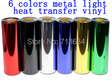 1 Meter Metal Light Vinyl Heat Transfer Iron On Cut by Cutting Plotter DIY Tshirt(China (Mainland))