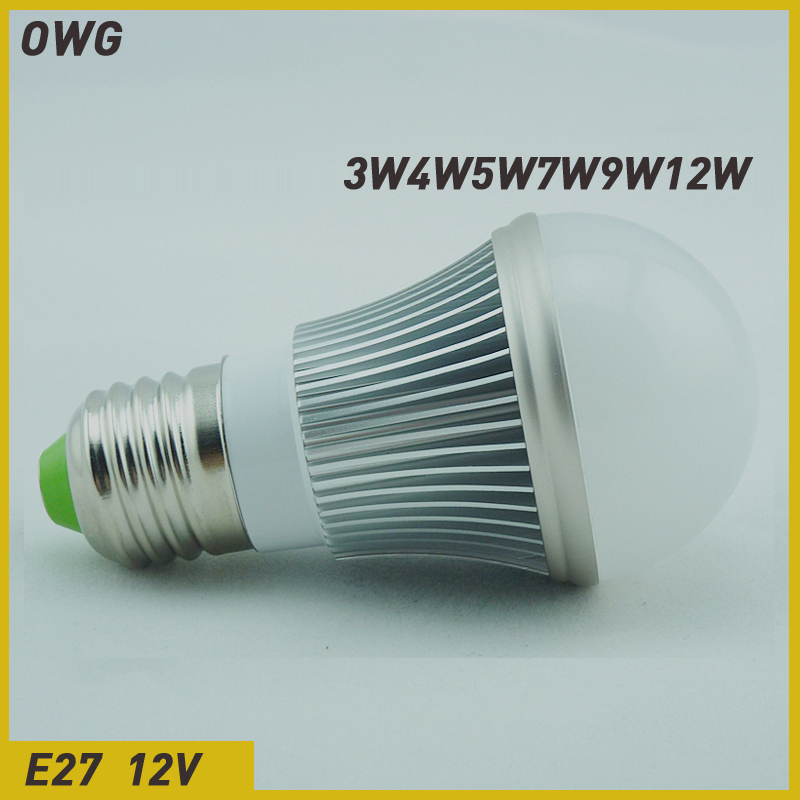 ()led bulb e27 3W 5W 7W 9W 12W 5730 SMD AC/DC12V LED Bulb Light LampEnergy Saving Led Lamps - ZEROGEM Lighting Co., LTD store