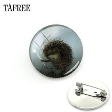 TAFREE Hedgehog Nella Nebbia Spille Spilli di Nuovo Modo Alla Moda Spilla In Metallo Delle Donne Degli Uomini del Vestito Accessori Del Vestito Spille Gioielli Distintivo HF09(China)