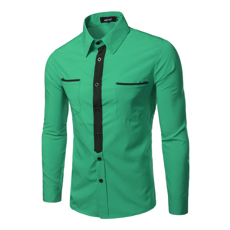 Popular emerald green dress shirt buy cheap emerald green Emerald green mens dress shirt