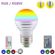 Led Magic Bulb E27 E14 Holiday Lamp Light AC 220V 110V 5W RGB / RGBW Colorful Lamp For Party Christmas Decoration With IR Remote(China (Mainland))