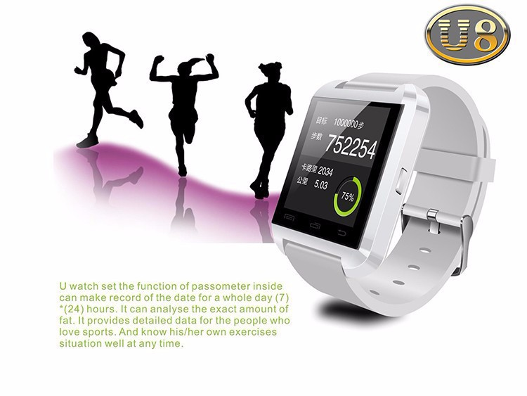 Bluetooth smart смотреть mtk u смотреть u8 смотреть спорт для телефона samsung 4/4s/5/5s s4/note 2/Примечание 3 htc android телефона smartwatch
