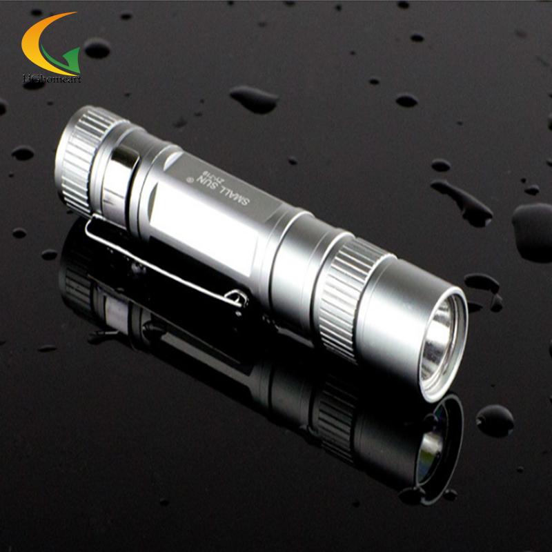 Mini LED stainless flashlights Waterproof Lanterna mini aluminum keychain led flashlight small xm-l t6 torch laser(China (Mainland))