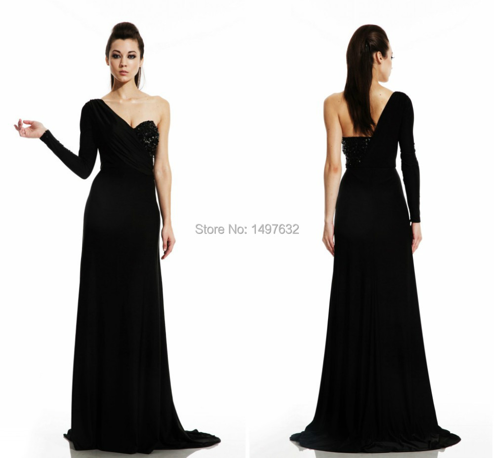 Popular Long Black Jersey Gowns-Buy Cheap Long Black Jersey Gowns ...