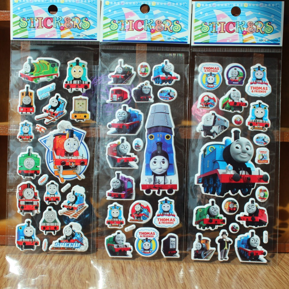 Bubbles sticker train cartoon Label European and American movie card pocket toys stickers anime characters(China (Mainland))
