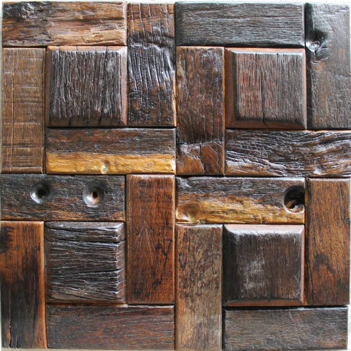Natural Wood Decorative Tile Random Pattern Rustic Wood Texture Wall Tile Kitchen Wall Wooden