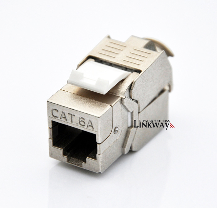 (24pcs a batch) 10G Network Cat6a (CAT.6A Class Ea) RJ45 Shielded Keystone Jack Network Connector -Also suitable for CAT7 cable(China (Mainland))