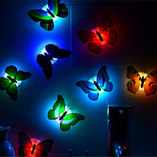 1pcs House of Novelty Multicolor Creative Cartoon Wedding Decoration Butterfly LED Lamp Night Light Home Supplies for Kids JJ745(China (Mainland))