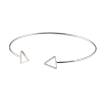 Trendy Geometric Double Triangle Bangle Alloy Plated Gold Silver Classic Bangles Fashion Jewellery Design Opening Men