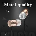 Fashion Metal Earphone Universal 3 5mm Jack HIFI Headphone Headset Handsfree Earphone with Mic For All