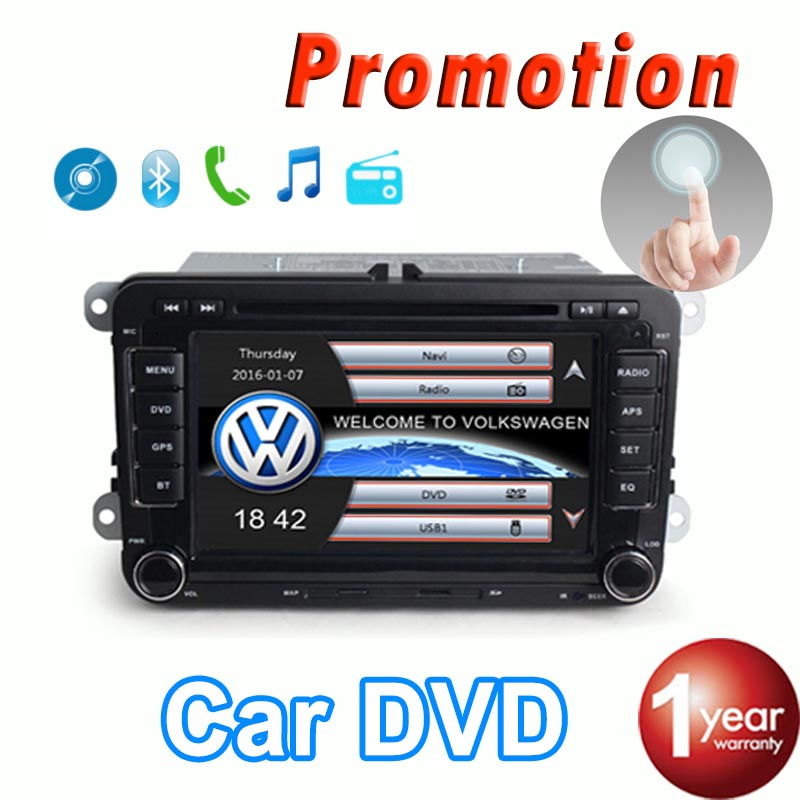 2 Din 7 Inch Car DVD Player For VW Volkswagen SEAT SKODA golf 6 passat b6 b7 With 3G USB WIFI GPS BT IPOD FM RDS GPS Navigation(China (Mainland))