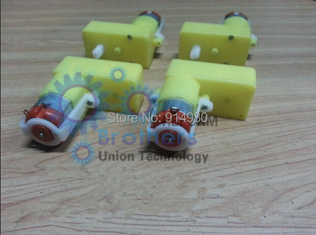 DIY 6V DC TT gear motor/deceleration motor/DC motor/DC Geared Motor/gearbox ,Applicable to toys, Gearbox ,smart car, robot(China (Mainland))