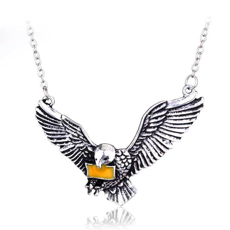 1pcs Vintage Silver Plated Messenger Hedwig Owl Pendant Pet Necklace With Chain Cosplay Magic Wizard For Best Birthday Present(China (Mainland))