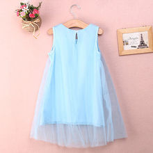 New Children Baby Flower Girl Princess Party Dress Tulle Gown Fancy Dresses 1-7Y