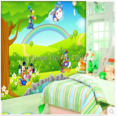 Buy free shipping custom children 39 s baby for Baby mural wallpaper