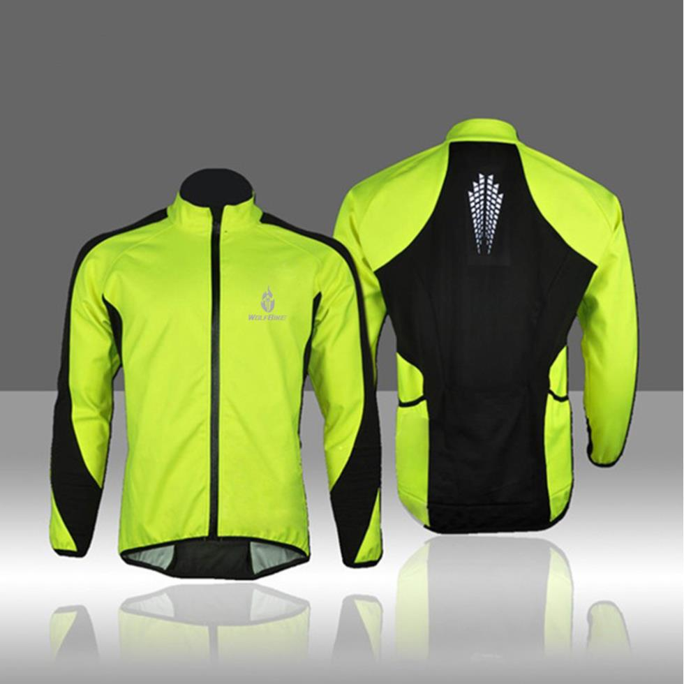 WOLFBIKE Fleece Thermal Cycling Long Sleeve Jersey Winter roupas de ciclismo Jacket Windproof Wind Coat Bicycle Wear Clothing - Sunshine riding store