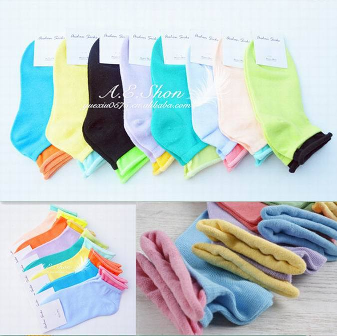 New Arrival lady Socks Sport Brand Socks Cotton Women's Socks roll up ankle socks with opp bag 10pairs/lot S503(China (Mainland))