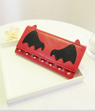 2016 New Arrival Cats Eyes And dog Wallet Fashion Long Novelty Women wallets Lady Purse#SJJ2466(China (Mainland))