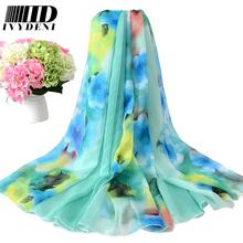 200*150cm 2016 Chiffon Scarf Shawl Vintage Elegant Ladies Long Silk Chiffon Scarf Designers Scarf Women Summer Beach Cover Up(China (Mainland))