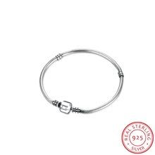 Buy 925 Sterling Silver Bracelets for Women 2016 TS Jewelry Basic Bead Bracelet Bangle Snake Chain Fit Charm Pendant Bracelet Femme for $23.69 in AliExpress store