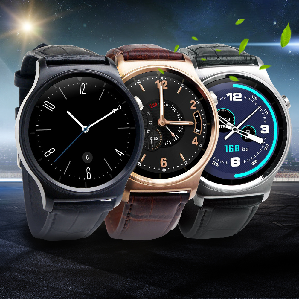 Ulefone GW01 Bluetooth 4.0 Smart Watch IPS Round Screen Life Water Resistant Ant