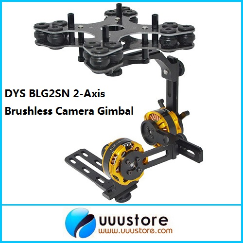 DYS BLG2SN 2-Axis Glass Fiber Brushless Camera Gimbal Mount w/2 BGM4108-130 Motors RTF for FPV Aerial Photography
