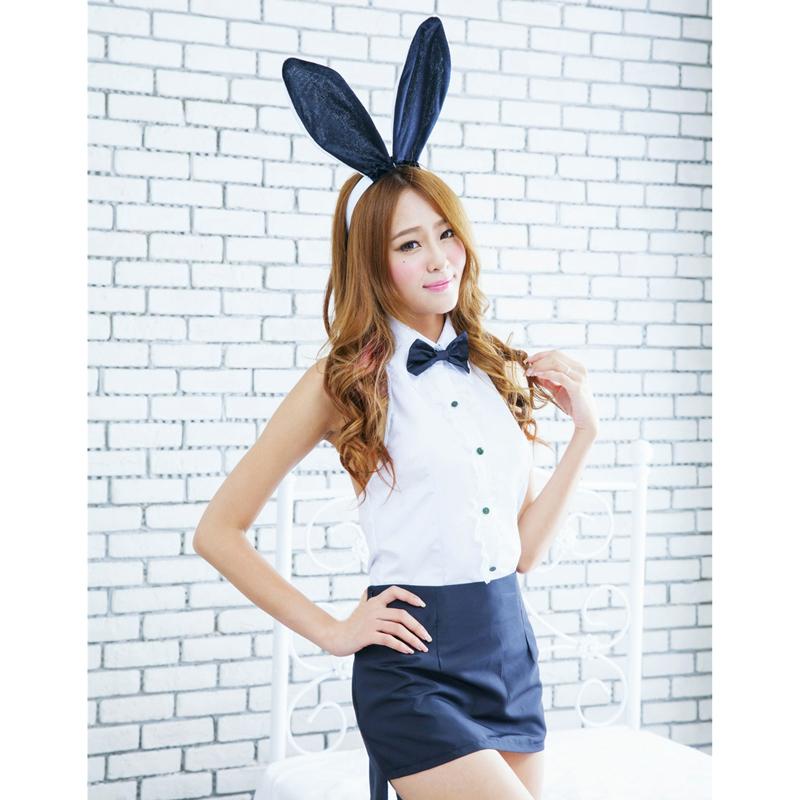 2015 New Fashion Sexy Women Babydoll Lady Rabbit Bunny Halloween Cosplay Costume Fancy Dress DM#6(China (Mainland))