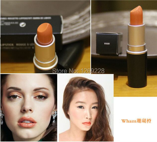 1PCS High Quality Makeup Cosmetic Coral MC Orange Wham Lipstick Give You a Very Temperament Lip color! !(China (Mainland))