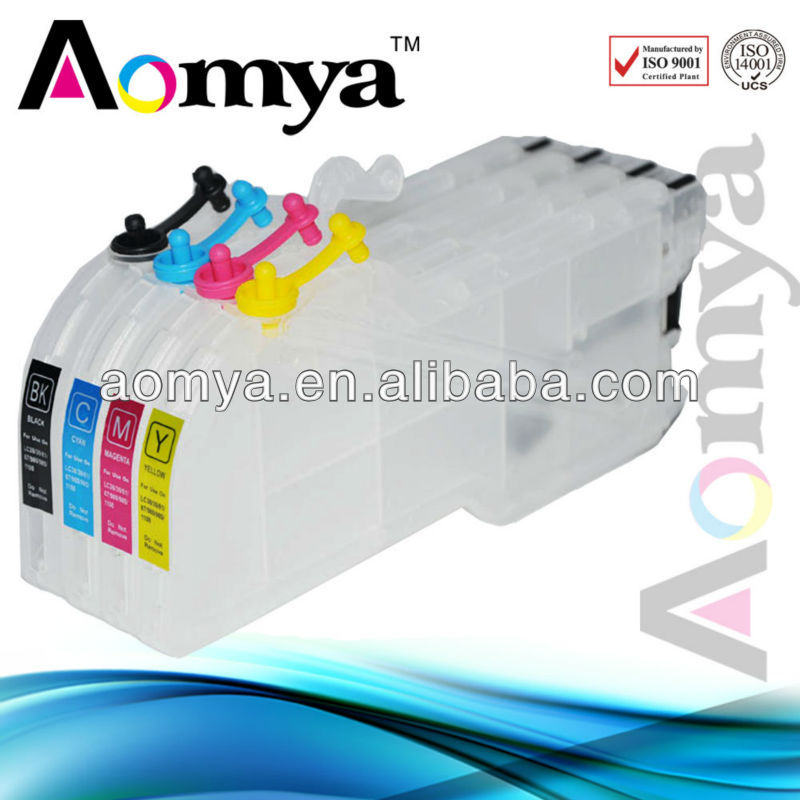 Free shipping LC1100 Refill ink cartridge For Brother DCP-383C DCP-395CN DCP-585CW 5490CN 5890CN 5895CW printer ink cartridge<br>