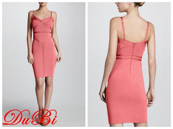 2015 Wholesale fashion spaghetti strap V-neck sexy party prom evening bandage dress wholesale for women(China (Mainland))
