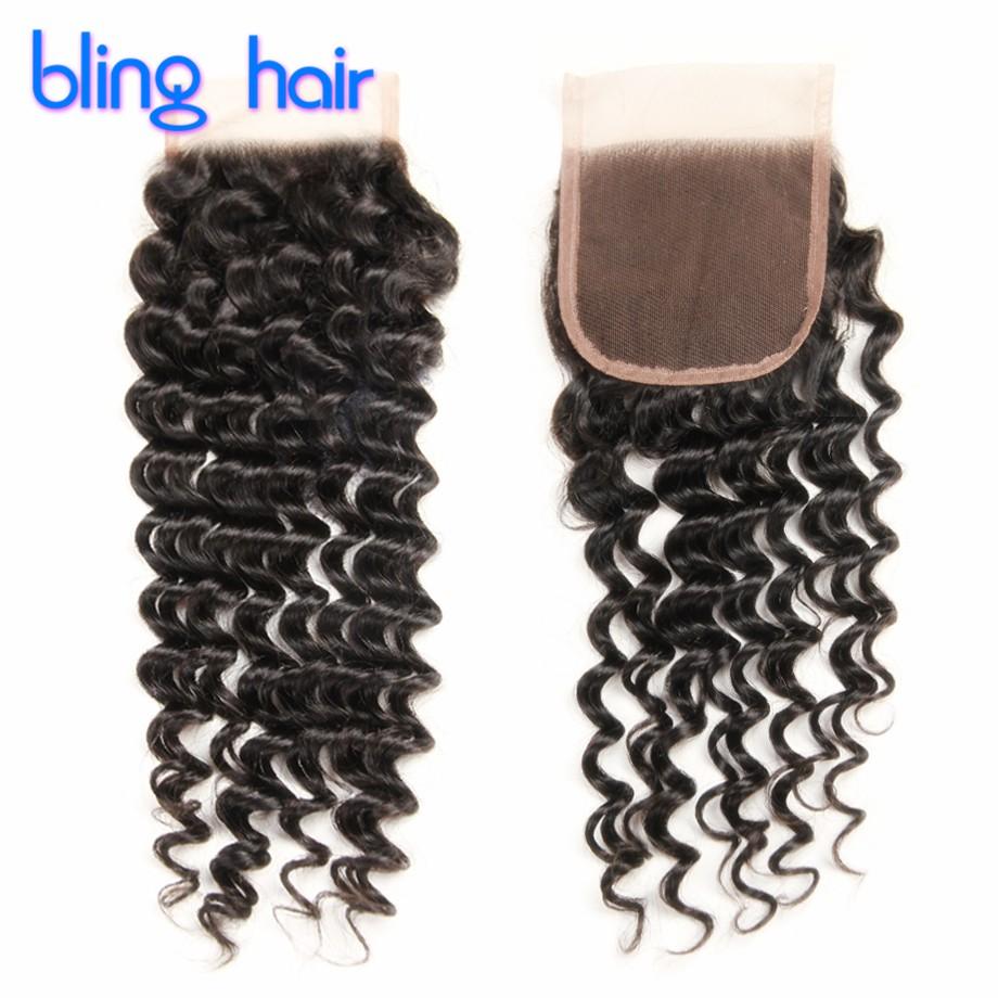 8A Malaysian Virgin Hair With Closure 4 Bundles Curly Human Hair With Closure Rosa Hair Product Malaysian Deep Wave With Closure