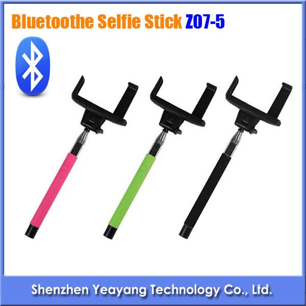 2 in 1 wireless bluetooth mobile phone monopod selfie stick z07 5 handheld monopod for iphone. Black Bedroom Furniture Sets. Home Design Ideas