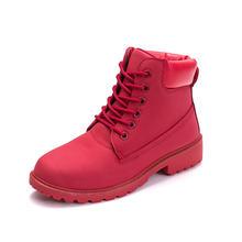 Mode Warme Martin Stiefel 2019 Heels Winter Stiefel Neue Ankunft Frauen Stiefeletten Frauen Schuhe Warme Pelz Plüsch Einlegesohle Schuhe frau(China)