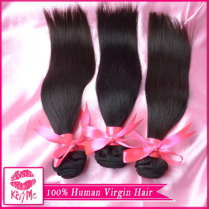 Brazilian Virgin Hair 3 Bundles Brazilian Straight Human Hair 6A Virgin Brazilian Hair Bundles Brazilian Virgin Hair Straight(China (Mainland))