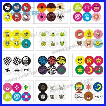Free Shipping 10Bags (60pcs) Various Home Button Key Sticker for iphone 5 4 4s 3GS 3G + Gift Retail Pack, 87 designs